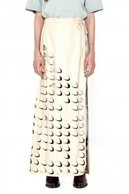 Laser Cut-Out Wrap Skirt