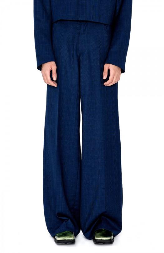 Check Wide Pants