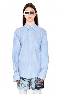 Padded Detail Stripe Shirt