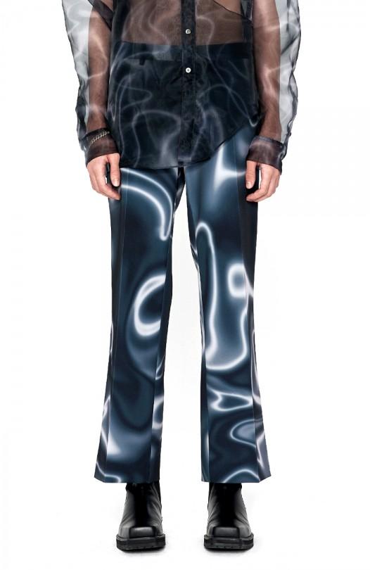 Moire Print Pants