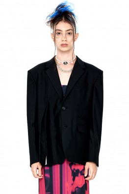 Single-Breasted Cut-Out Blazer