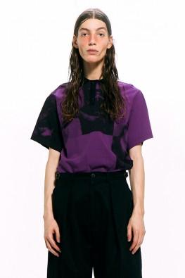 Art Print Polo Shirt / Purple