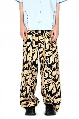 Leopard Print Wide Pants