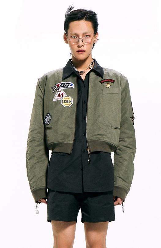 Nylon Bomber Jacket