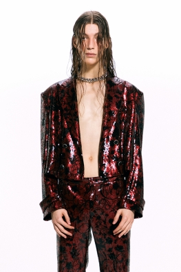 Sequined Double-Breasted Jacket